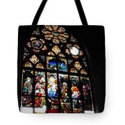 Saint Augustine Stained Glass Tote Bag
