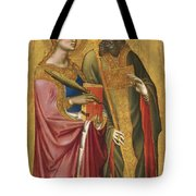 Saint Catherine And A Bishop Saint Possibly Saint Regulus Tote Bag