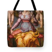 Saint Catherine Of Alexandria Crowned By Two Angels Tote Bag