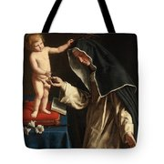 Saint Catherine Of Siena Receiving The Crown Of Thorns From The Christ Child Tote Bag