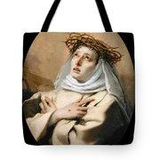 Saint Catherine Of Sienna Tote Bag
