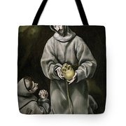 Saint Francis And Brother Leo Meditating On Death Tote Bag