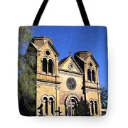 Saint Francis Cathedral Santa Fe Tote Bag by Kurt Van Wagner