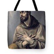 Saint Francis In Ecstasy Tote Bag