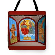 Saint Francis Tryptich Opened Tote Bag