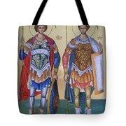 Saint George And Saint Dimitrios Tote Bag