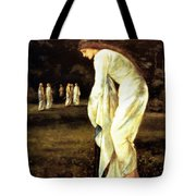Saint George And The Dragon The Princess Tied To The Tree 1866 Tote Bag