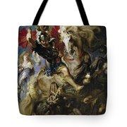 Saint George Battles The Dragon Tote Bag