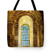 Saint Isidore - Romanesque Window With Stained Glass - Vintage Version Tote Bag