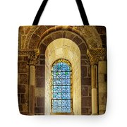 Saint Isidore - Romanesque Window With Stained Glass Tote Bag