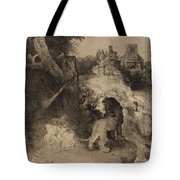 Saint Jerome In An Italian Landscape Tote Bag