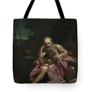 Saint Jerome In The Desert Tote Bag