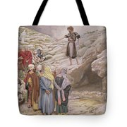 Saint John The Baptist And The Pharisees Tote Bag by Tissot