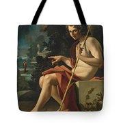 Saint John The Baptist In A Landscape Tote Bag