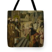 Saint Lawrence Before The Prefect Tote Bag