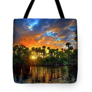 Saint Lucie River Sunset Tote Bag