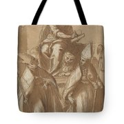 Saint Mark With Two Bishops And Putti Tote Bag