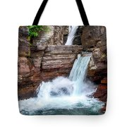 Saint Mary Falls - Glacier National Park Tote Bag