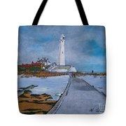 Saint Mary's Lighthouse Tote Bag