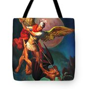Saint Michael The Warrior Archangel Tote Bag