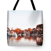 Saint Michael's Harbor Tote Bag by Bill Cannon