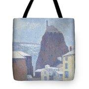 Saint Michel D Aiguilhe Haute Loire Under Snow 1890 Tote Bag