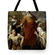 Saint Paul Healing The Cripple At Lystra Tote Bag