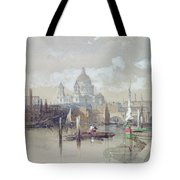 Saint Pauls From The River Tote Bag by David Roberts