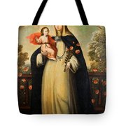 Saint Rose Of Lima With Child Jesus Tote Bag