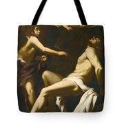 Saint Sebastian Succoured By The Angels Tote Bag