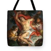 Saint Sebastian Tended By Saint Irene Tote Bag