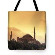 Saint Sophia Hagia Sophia At Sunset Tote Bag