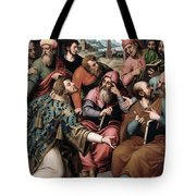 Saint Stephen In The Synagogue Tote Bag