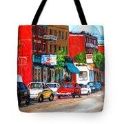 Saint Viateur Street Tote Bag