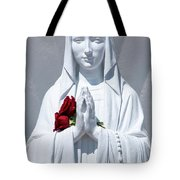 Saint Virgin Mary Statue #1 Tote Bag