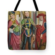 Saints Ambrose Exuperius And Jerome Tote Bag