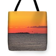 Sakonnet Point Sunrise And Lighthouse Tote Bag