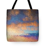 Salamonie Sunset Abstract Tote Bag