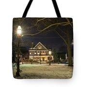 Salem Commons Winter Snow At Christmas Salem Ma Tote Bag