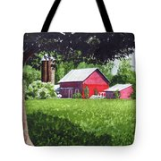 Salem County Farm, Framed Tote Bag