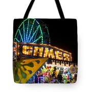 Salem Ma Halloween Carnival Games Booth Tote Bag