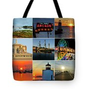 Salem Ma Nine Picture Collage Tote Bag