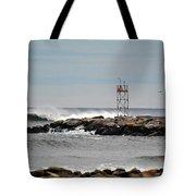 Salisbury Beach Jetty Tote Bag