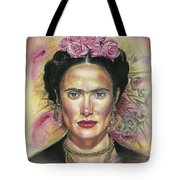 Salma Hayek As Frida Kahlo Tote Bag