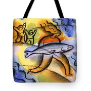 Salmon Fishing Tote Bag