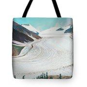 Salmon Glacier, Frozen Motion Tote Bag