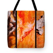Salmon Gum Tree Triptych  #3 Tote Bag