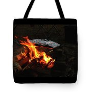 Salmon On The Fire Tote Bag