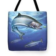 Salmon Painting Tote Bag