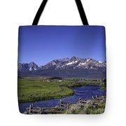 Salmon River And Sawtooth Mountains Tote Bag